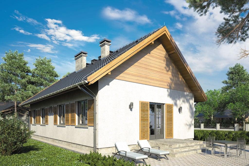 Проект одноэтажного дома с террасой и гаражом «КО-112» - фото №3