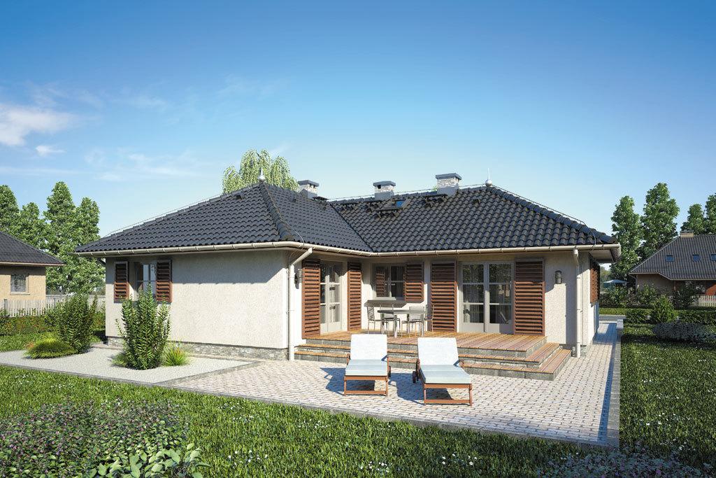 Проект одноэтажного дома с террасой «КО-114» - фото №2