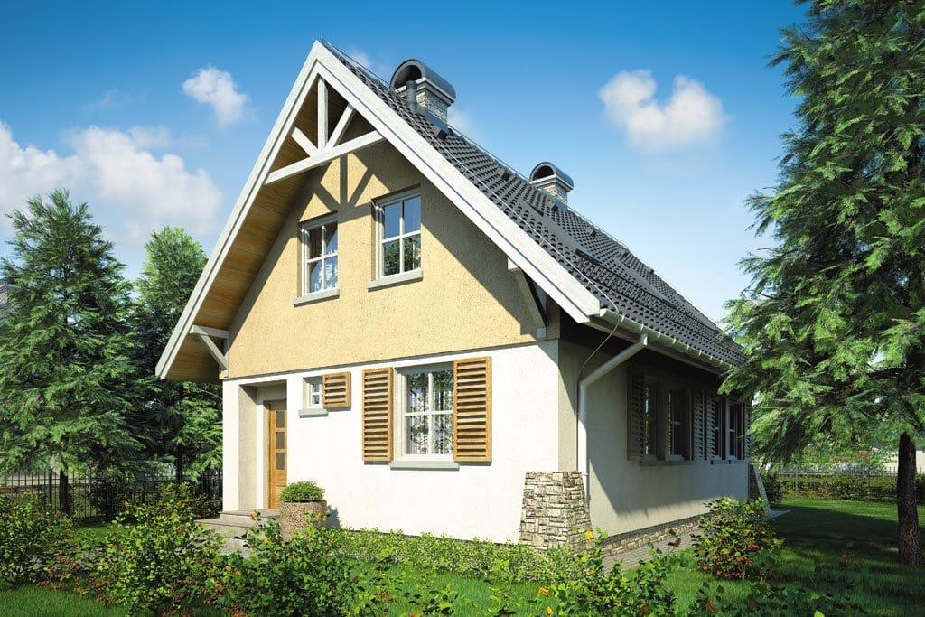 Проект мансардного дома с террасой и балконом «КМ-69» - фото №2