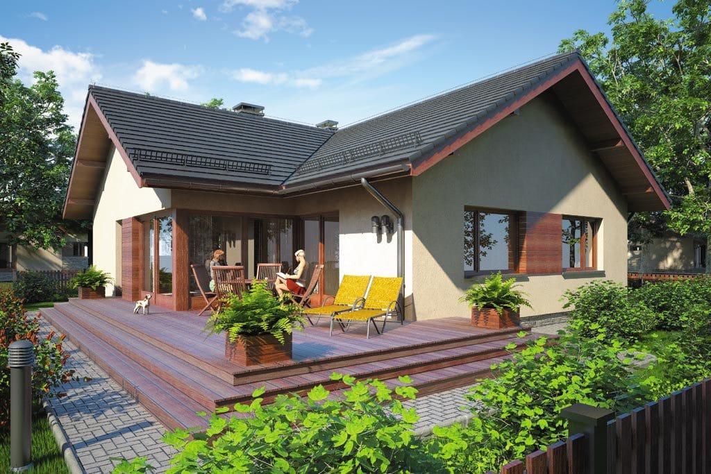 Проект одноэтажного дома с террасой «КО-80» - фото №2