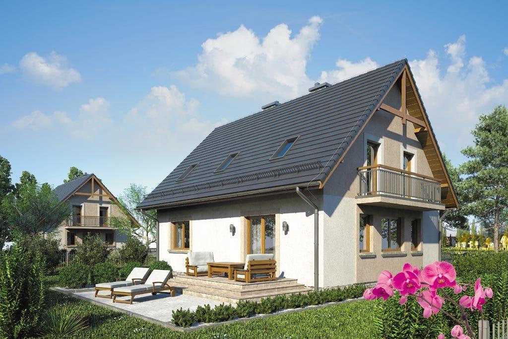 проекты небольших домов с балконом фото бисера запросто