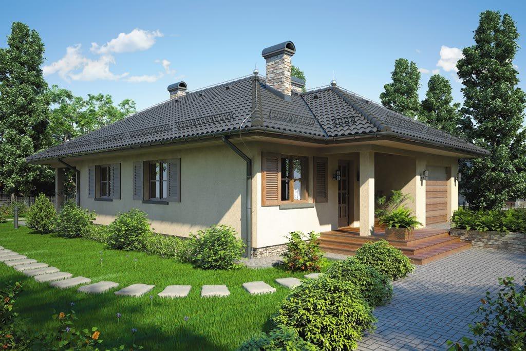 Проект одноэтажного дома с гаражом и террасой «КО-81» - фото №2