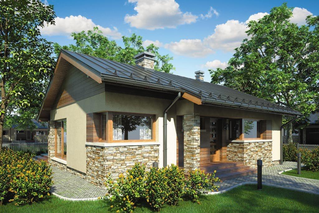 Проект одноэтажного дома с террасой «КО-82» - фото №3