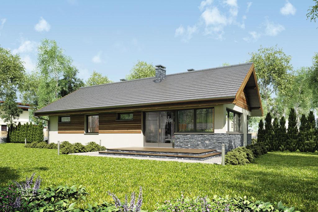 Проект одноэтажного дома с гаражом и террасой «КО-83» - фото №2