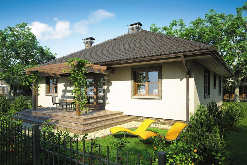 Проект одноэтажного дома с террасой «КО-84» - фото №2