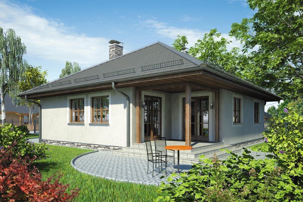 Проект одноэтажного дома с гаражом и террасой «КО-75» - фото №2
