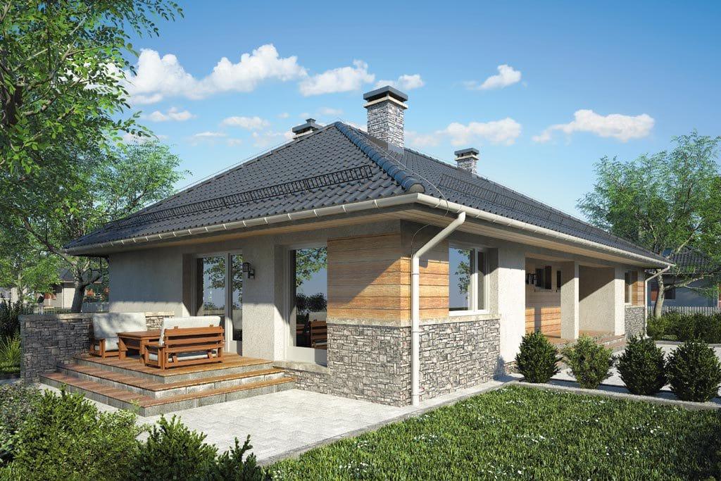 Проект одноэтажного дома с террасой «КО-86» - фото №3