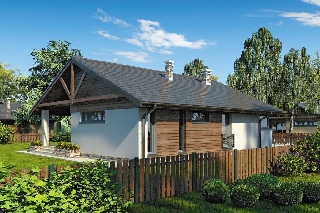 Проект одноэтажного дома с террасой «КО-89» - фото №3