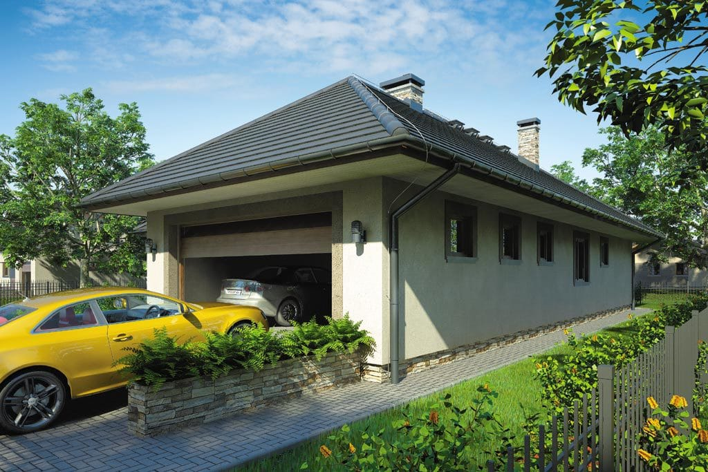 Проект одноэтажного дома с гаражом и верандой «КО-92» - фото №3