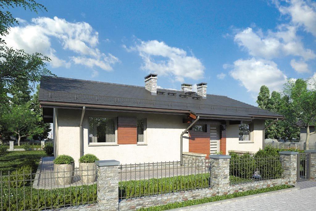 Проект одноэтажного дома с террасой «КО-93» - фото №3
