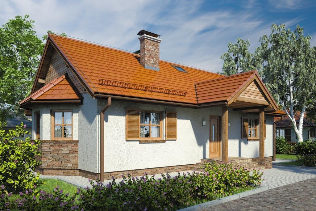 Проект одноэтажного дома с террасой «КО-94» - фото №3