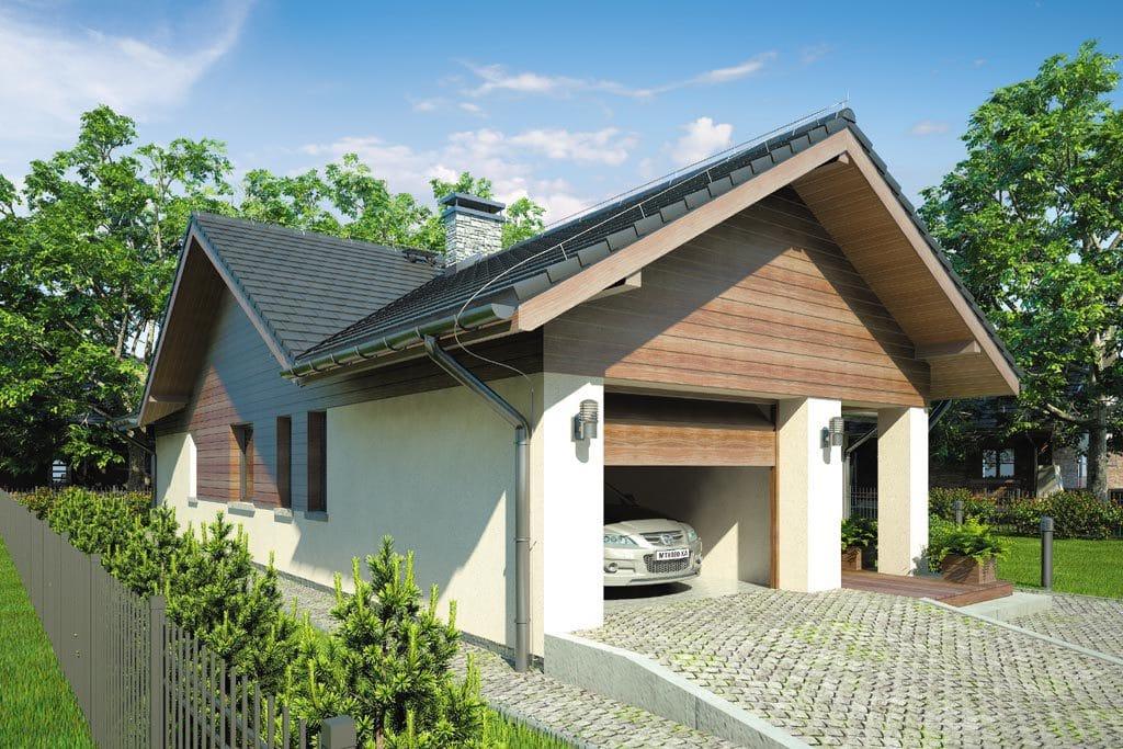 Проект одноэтажного дома с террасой и гаражом «КО-76» - фото №3