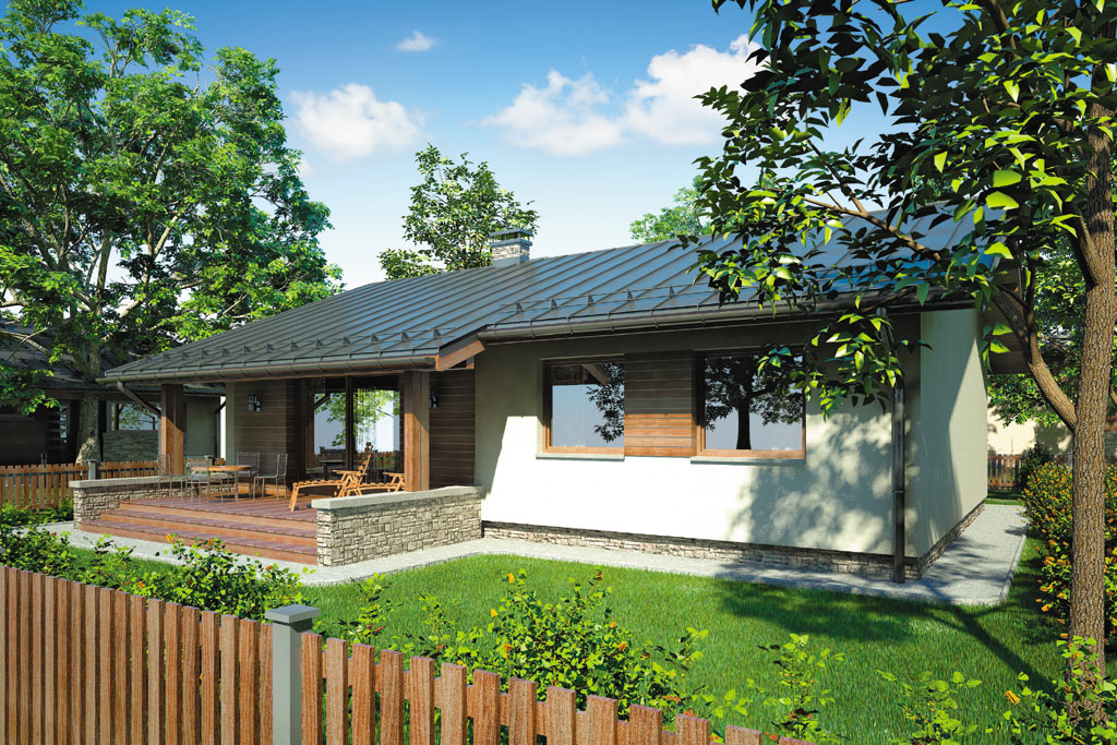 Проект одноэтажного дома с террасой «КО-97» - фото №3