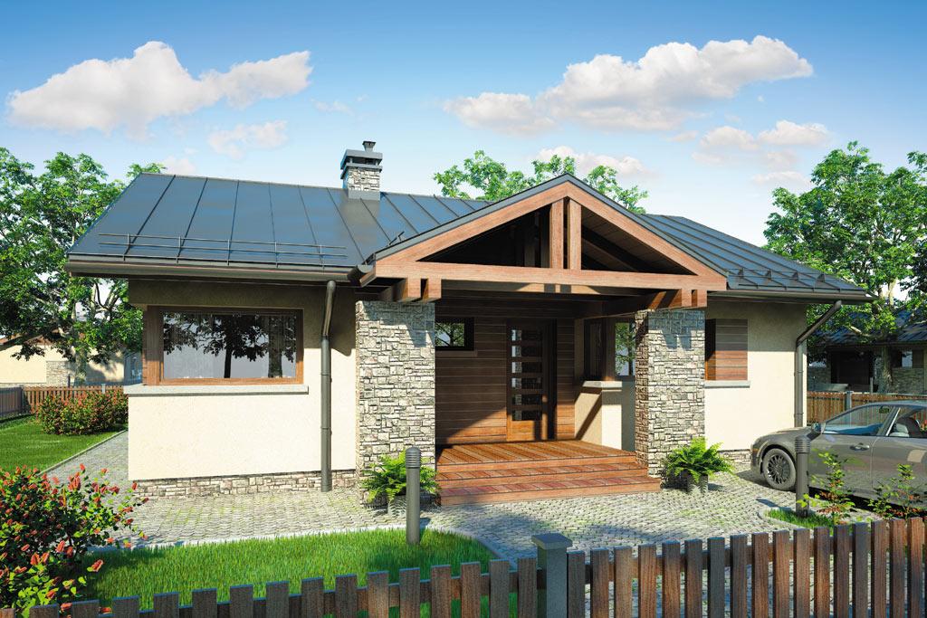 Проект одноэтажного дома с террасой «КО-98» - фото №3