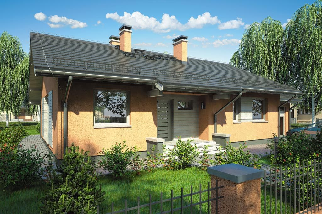Проект одноэтажного дома с гаражом и террасой «КО-100» - фото №3