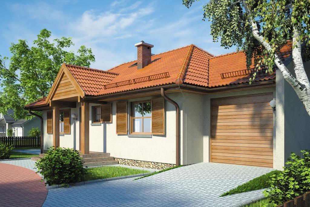 Проект одноэтажного дома с гаражом и террасой «КО-101» - фото №3