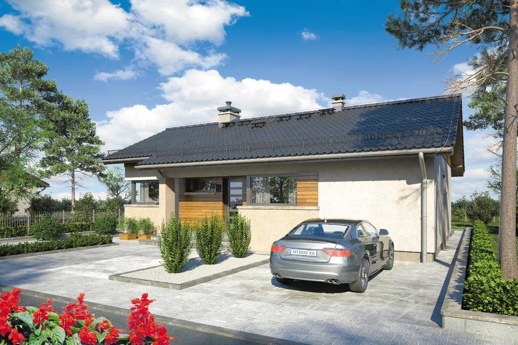 Проект одноэтажного дома с террасой «КО-102» - фото №3