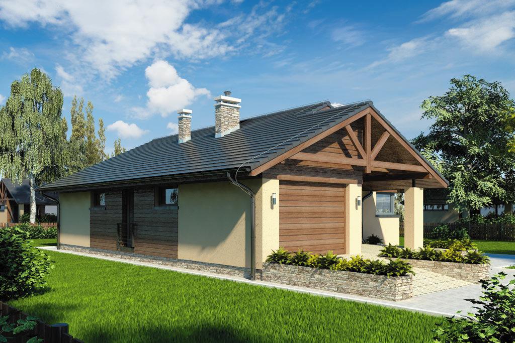 Проект одноэтажного дома с гаражом и террасой «КО-103» - фото №3