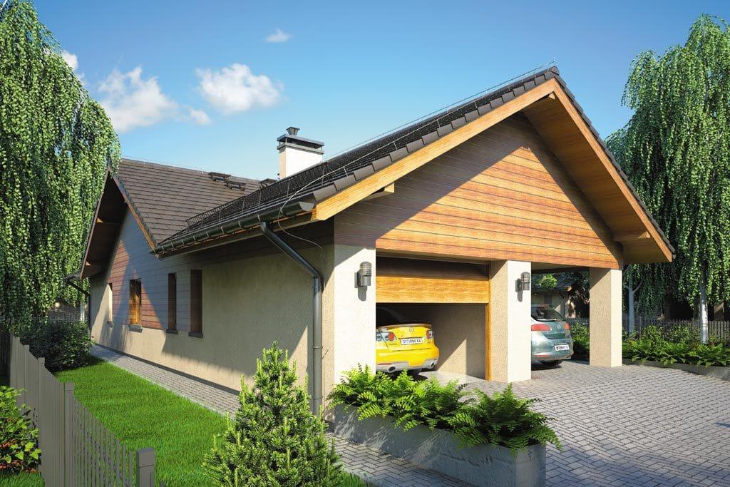 Проект одноэтажного дома с гаражом и террасой «КО-104» - фото №3