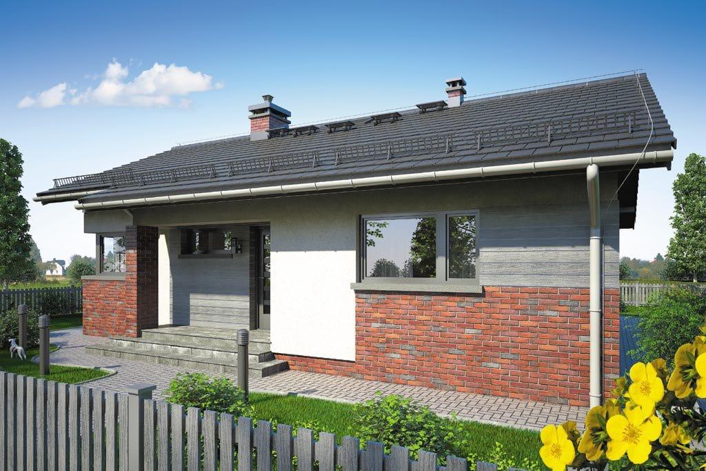Проект одноэтажного дома с террасой «КО-106» - фото №3