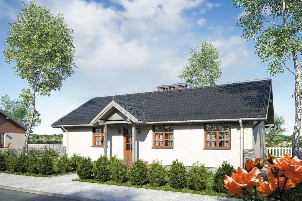 Проект одноэтажного дома с террасой «КО-107» - фото №3