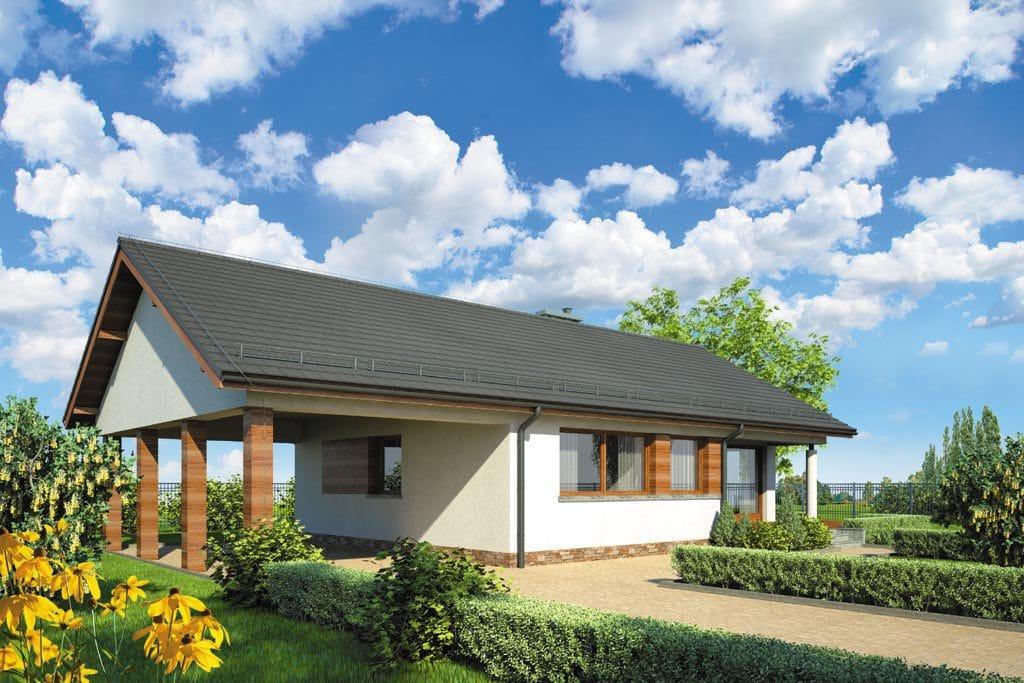 Проект одноэтажного дома с гаражом и террасой «КО-108» - фото №3