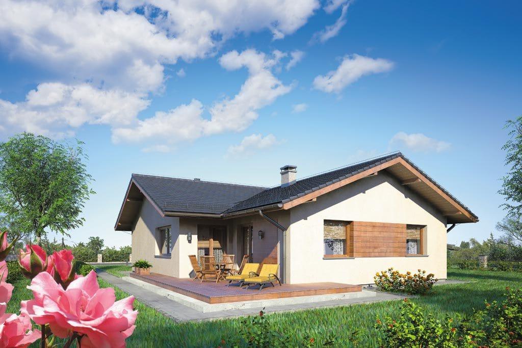 Проект одноэтажного дома с гаражом и террасой «КО-110» - фото №3