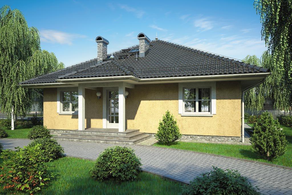 Проект одноэтажного дома с террасой «КО-111» - фото №3