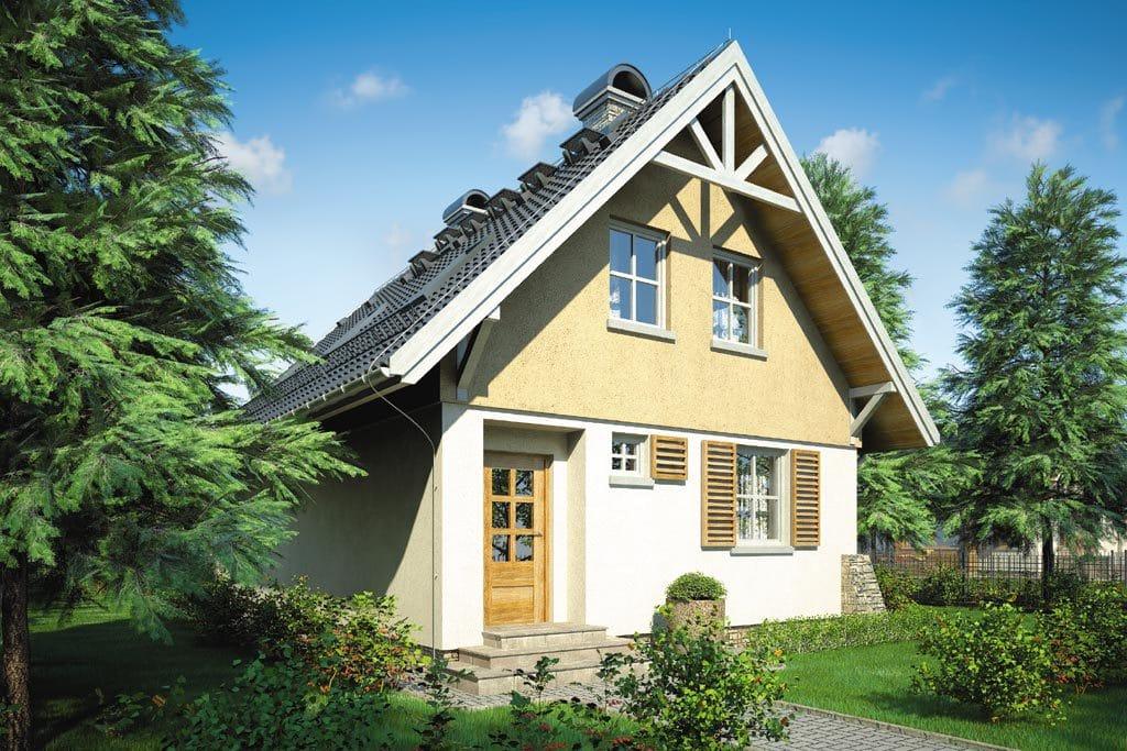 Проект мансардного дома с террасой и балконом «КМ-69» - фото №3