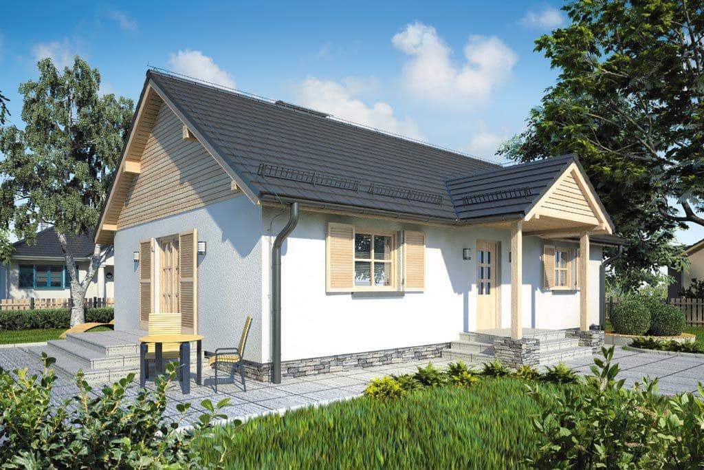 Проект одноэтажного дома с террасой «КО-78» - фото №1