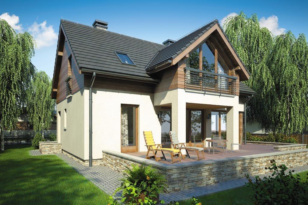 Проект мансардного дома с террасой «КМ-74» - фото №3