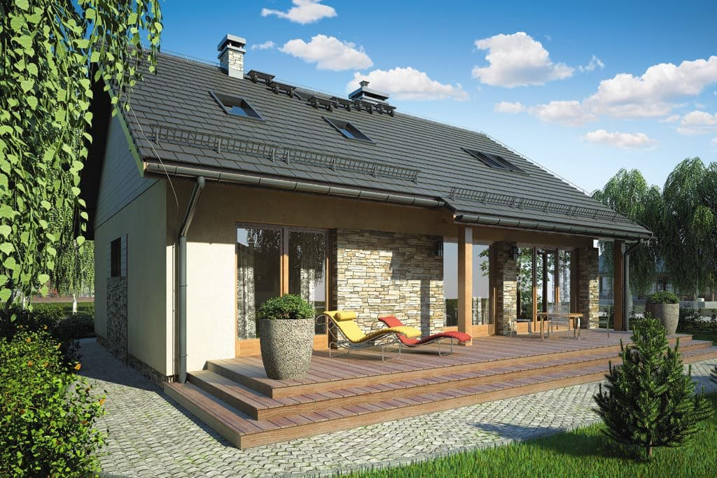 Проект мансардного дома с террасой «КМ-75» - фото №3