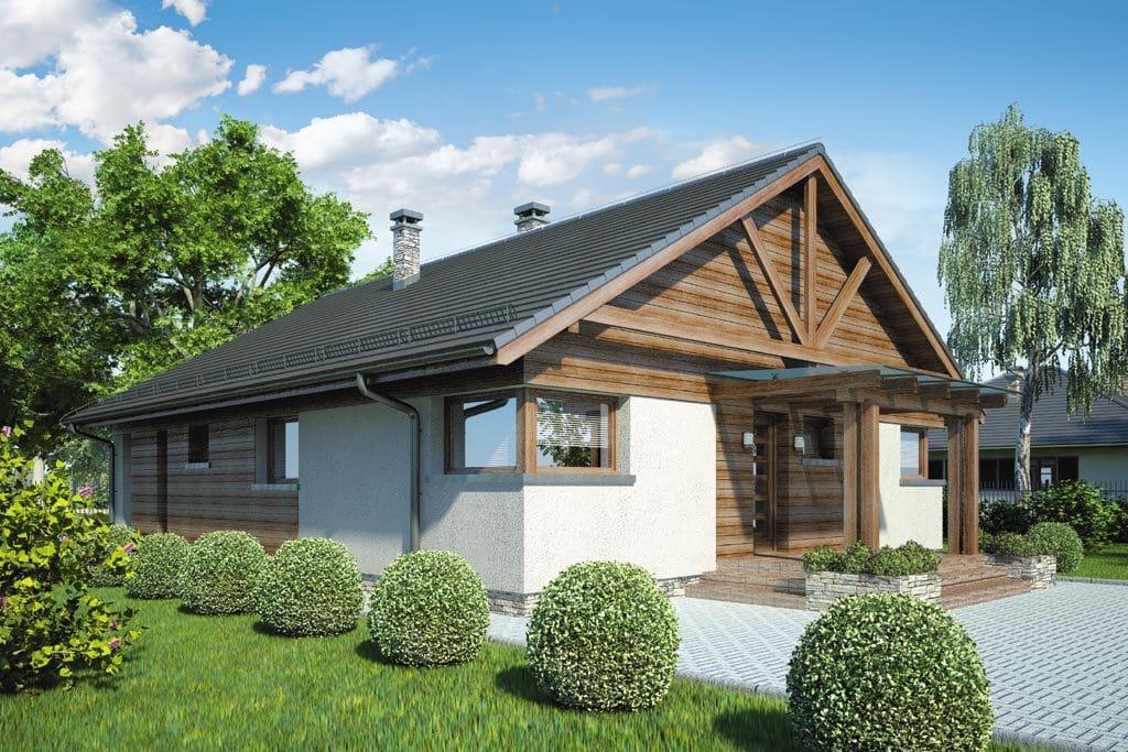 Проект одноэтажного дома с террасой «КО-79» - фото №2