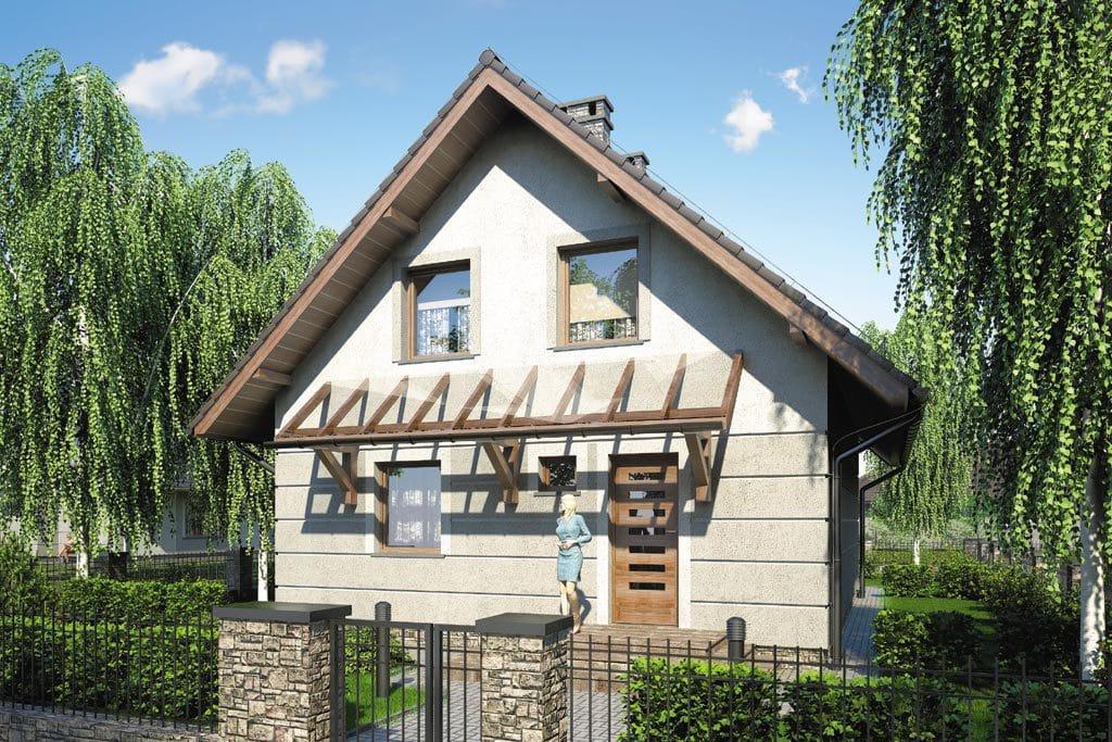 Проект мансардного дома с террасой и балконом «КМ-88» - фото №3