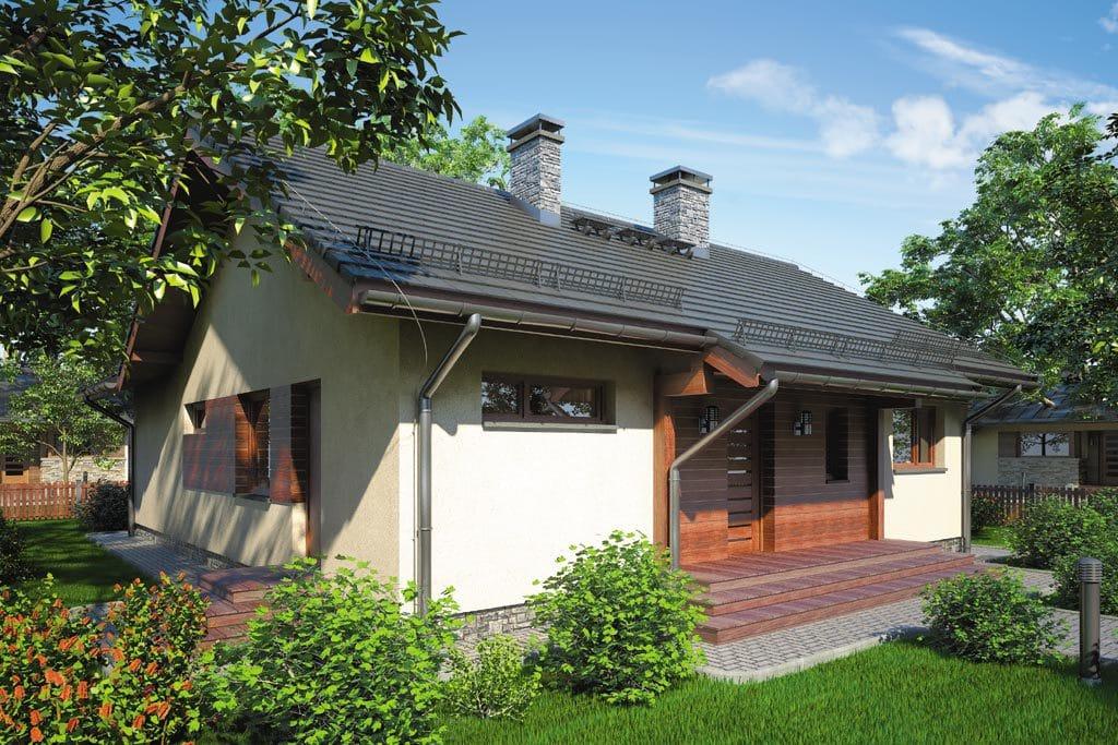 Проект одноэтажного дома с террасой «КО-80» - фото №1