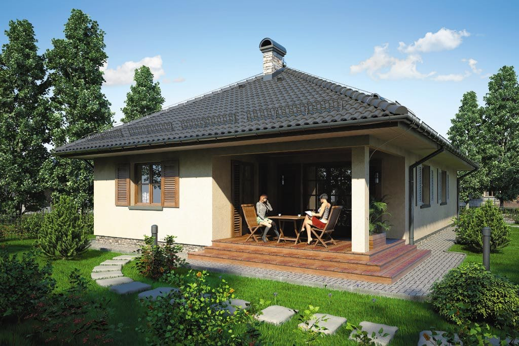 Проект одноэтажного дома с гаражом и террасой «КО-81» - фото №3