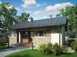 Проект одноэтажного дома с террасой «КО-82»