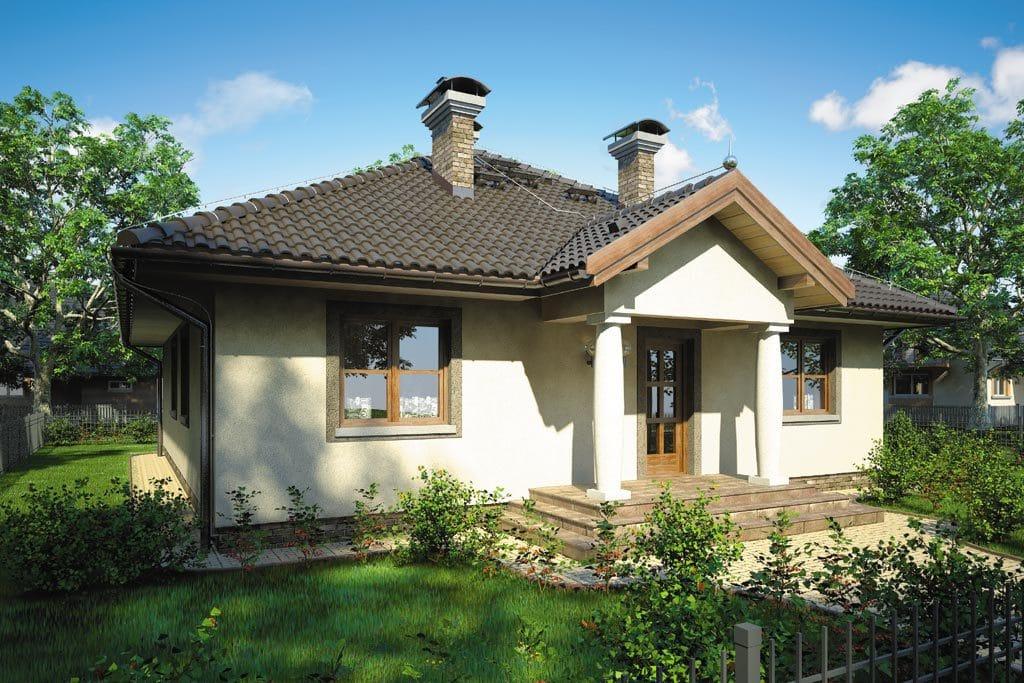 Проект одноэтажного дома с террасой «КО-84» - фото №3
