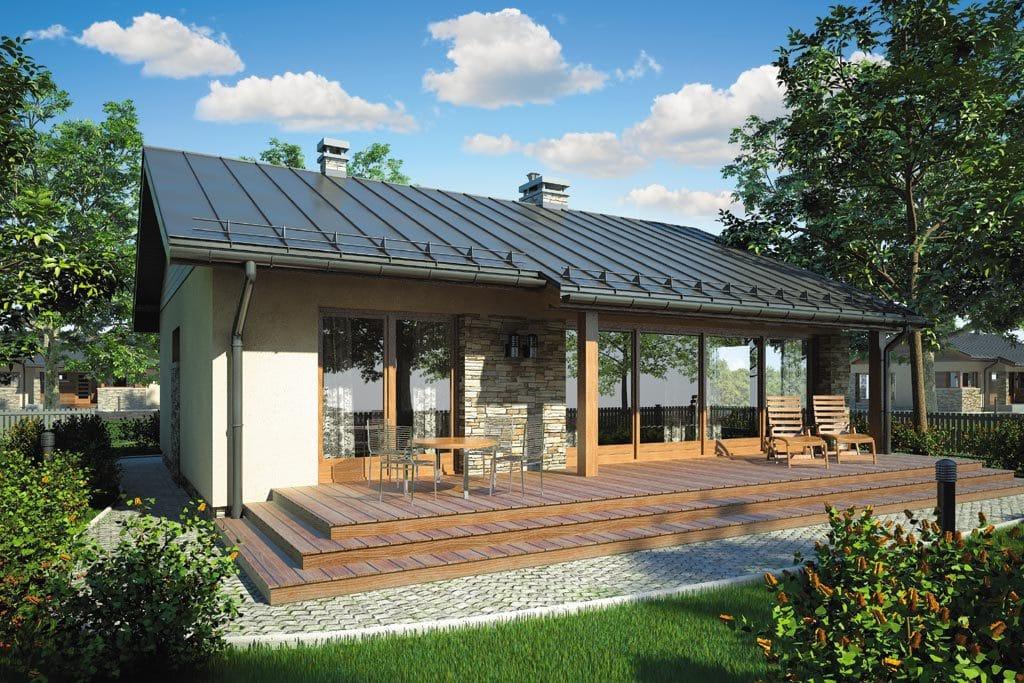 Проект одноэтажного дома с террасой «КО-82» - фото №2