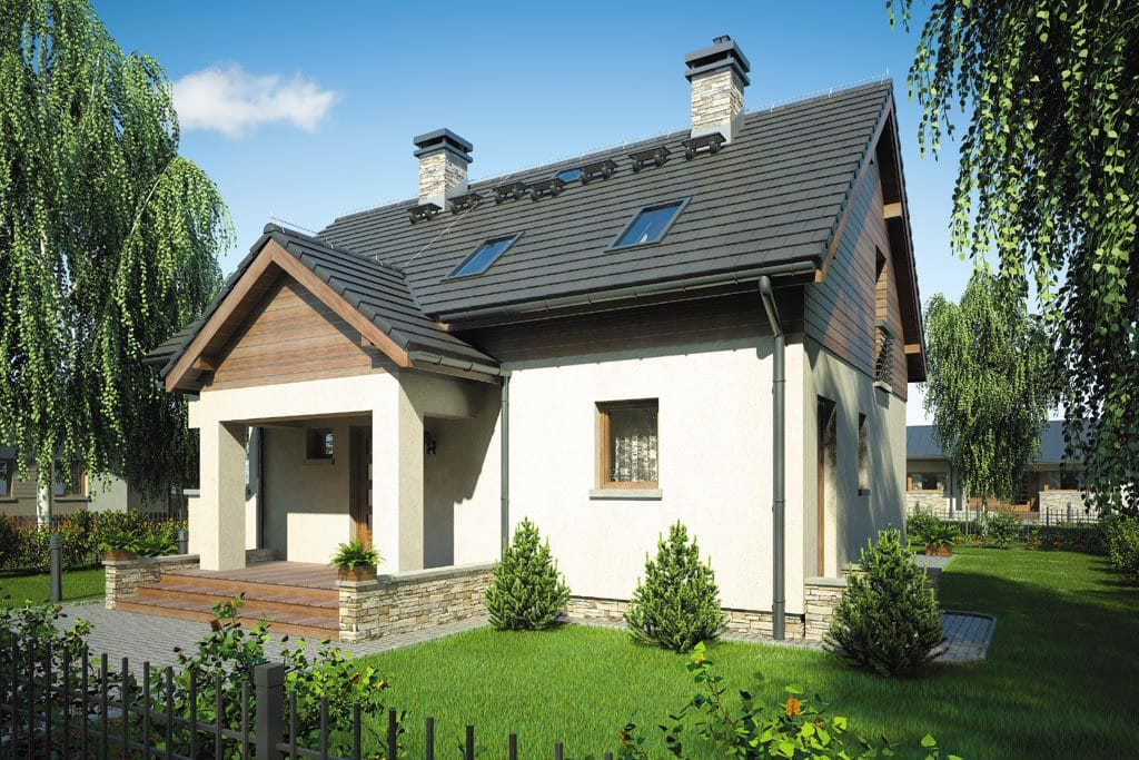 Проект мансардного дома с террасой «КМ-74» - фото №4