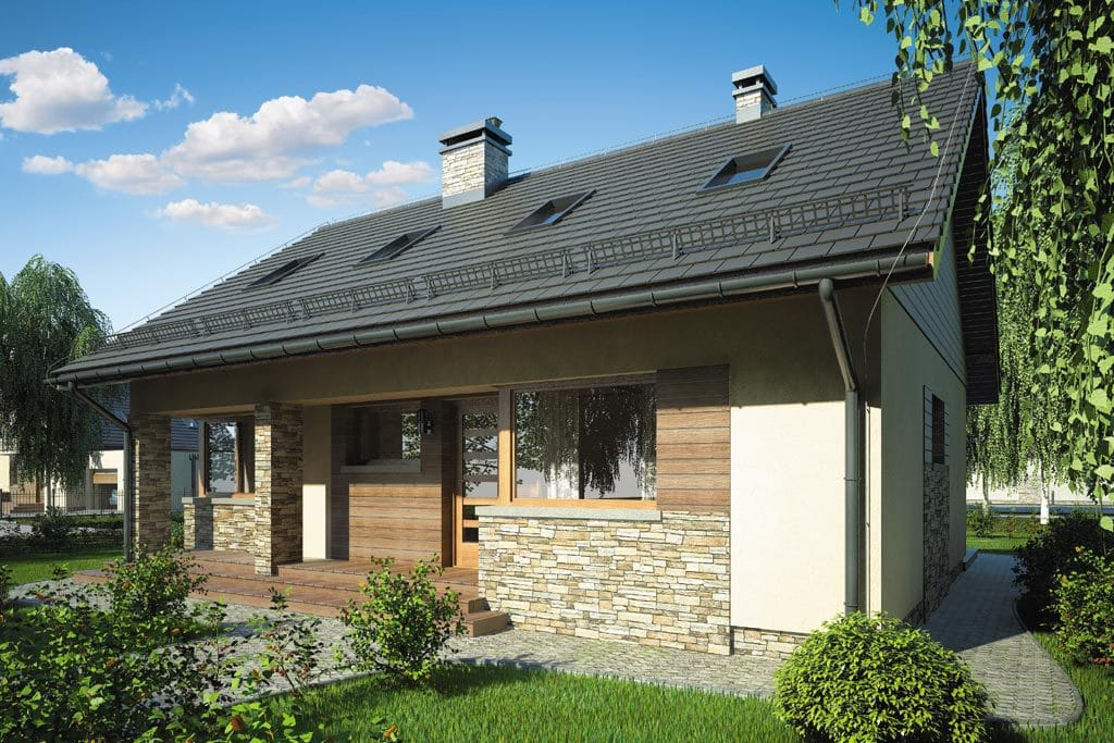 Проект мансардного дома с террасой «КМ-75» - фото №4