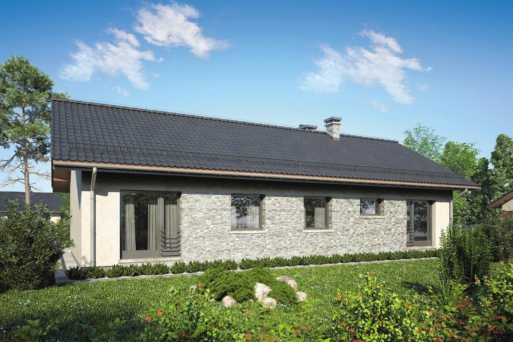 Проект одноэтажного дома с террасой «КО-85» - фото №4
