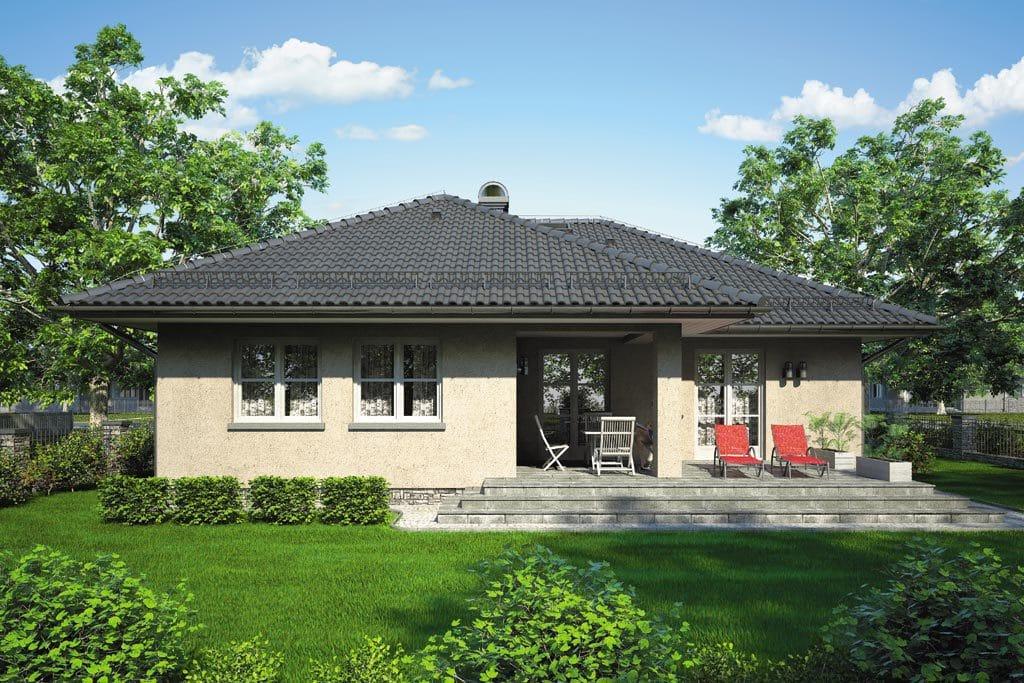 Проект одноэтажного дома с гаражом и террасой «КО-96» - фото №4