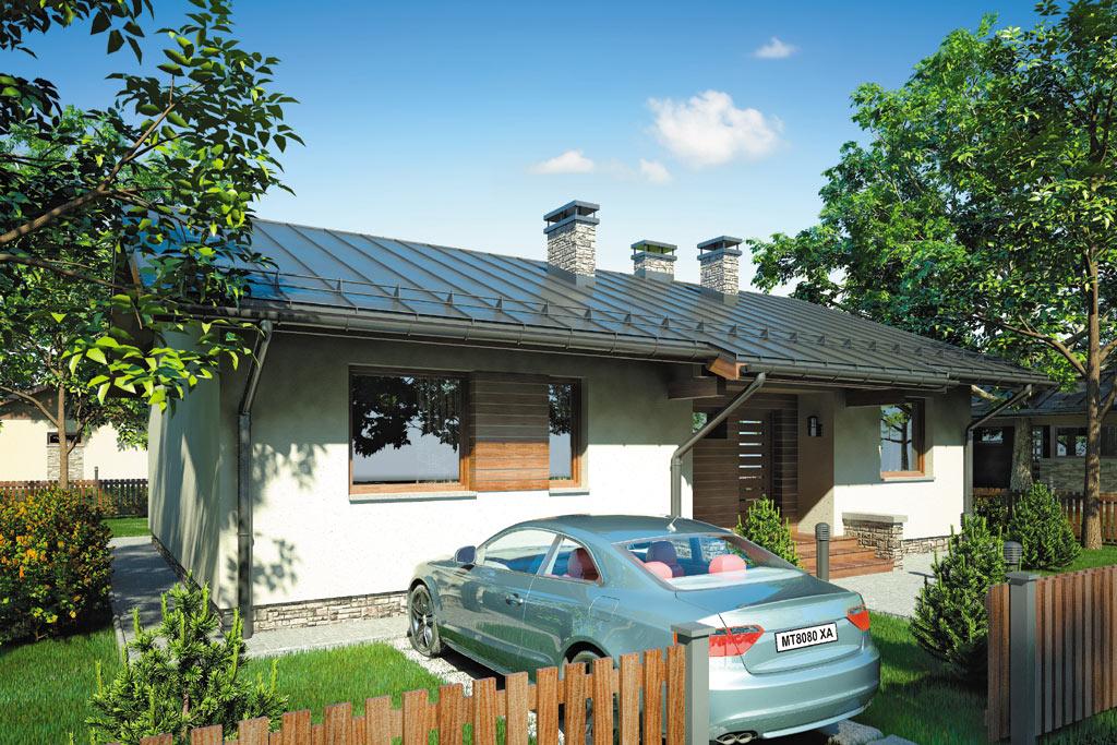 Проект одноэтажного дома с террасой «КО-97» - фото №4