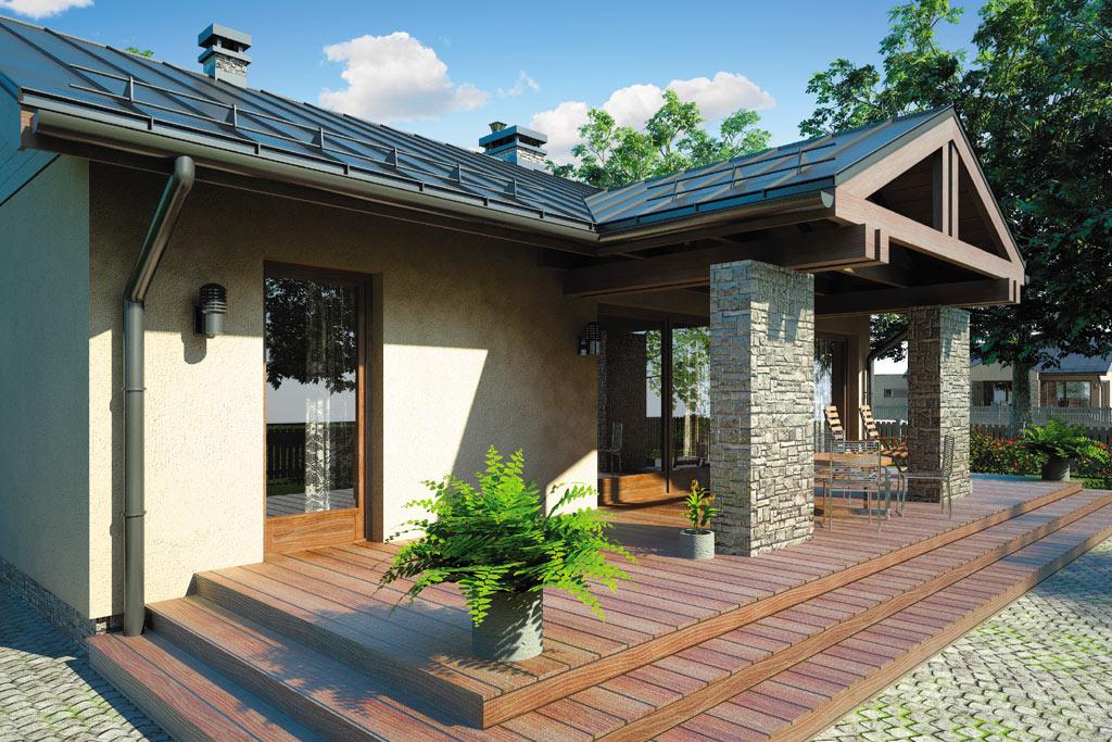 Проект одноэтажного дома с террасой «КО-98» - фото №4