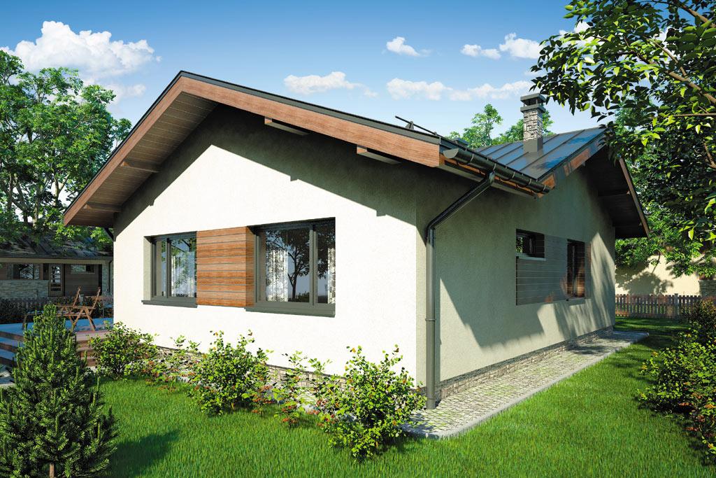Проект одноэтажного дома с террасой «КО-99» - фото №4