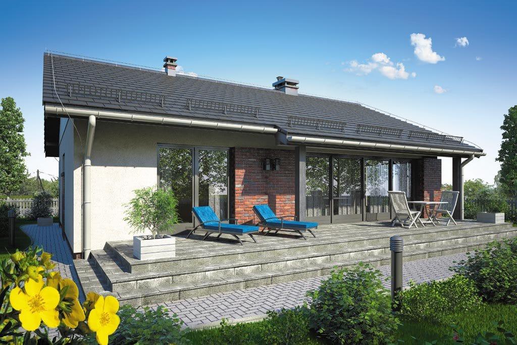 Проект одноэтажного дома с террасой «КО-106» - фото №4