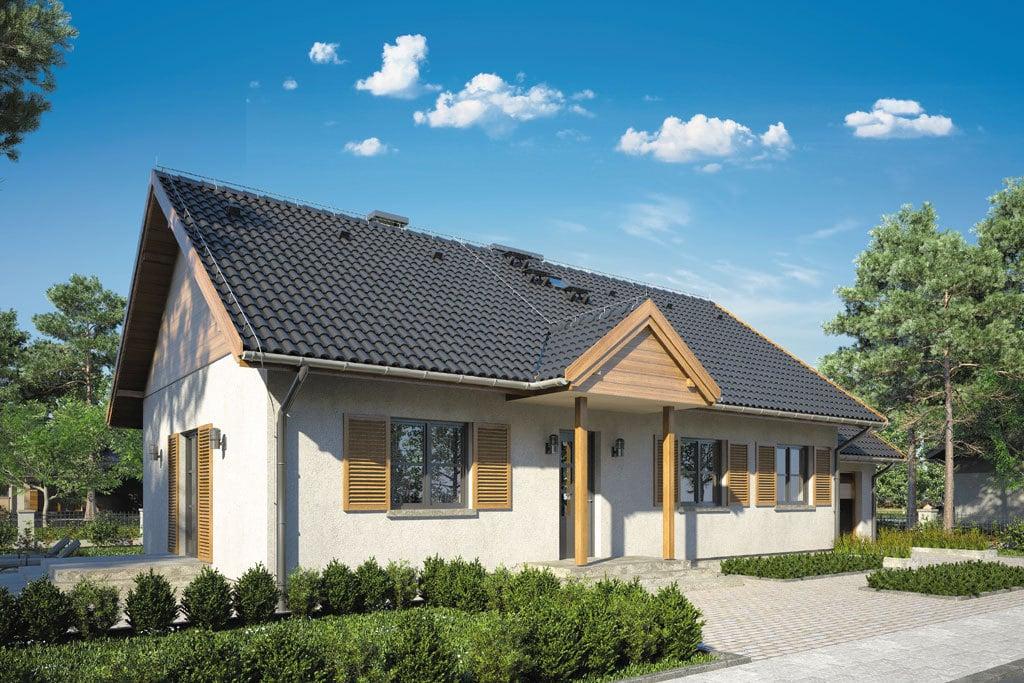 Проект одноэтажного дома с террасой и гаражом «КО-112» - фото №4