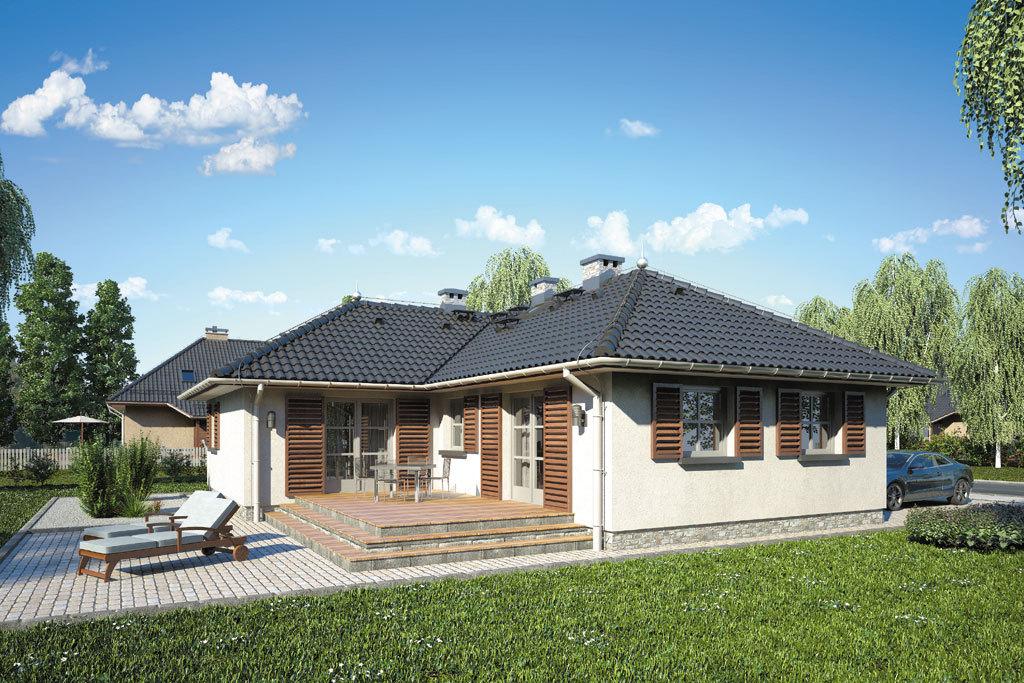 Проект одноэтажного дома с террасой «КО-114» - фото №4