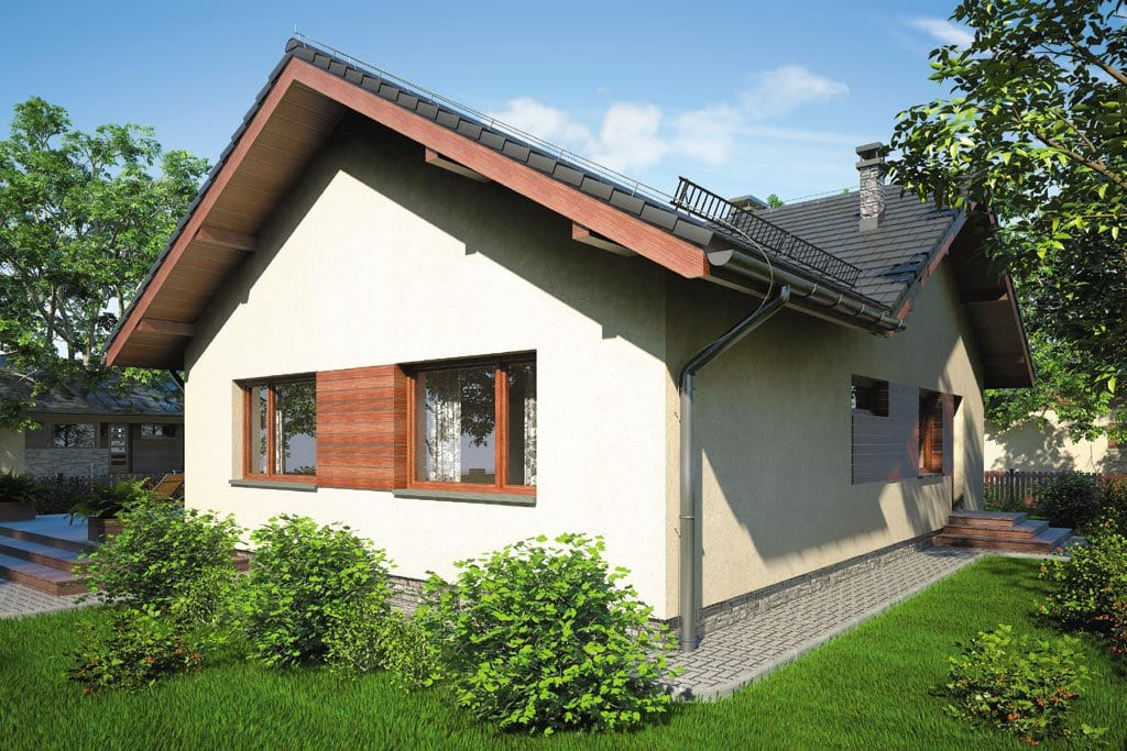 Проект одноэтажного дома с террасой «КО-80» - фото №3